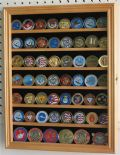 Medal, Coin or Casino Chip Display Case in Oak